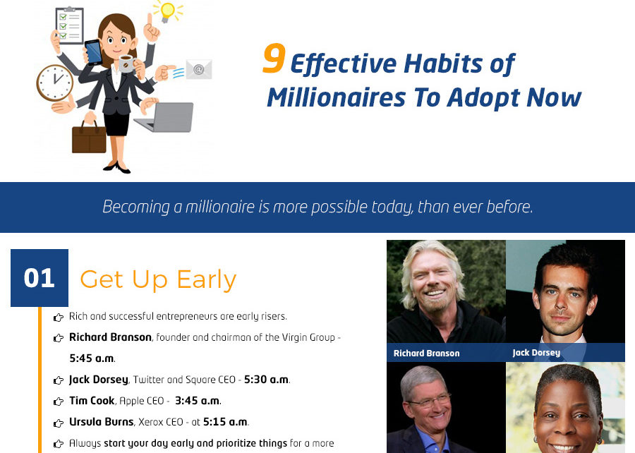 9 Effective Habits of Millionaires You Need To Adopt Today""