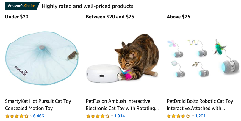 trending electronic cat toys